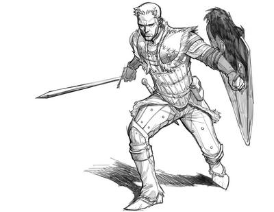 Sketch Dragon Age: The Silent - Alistair