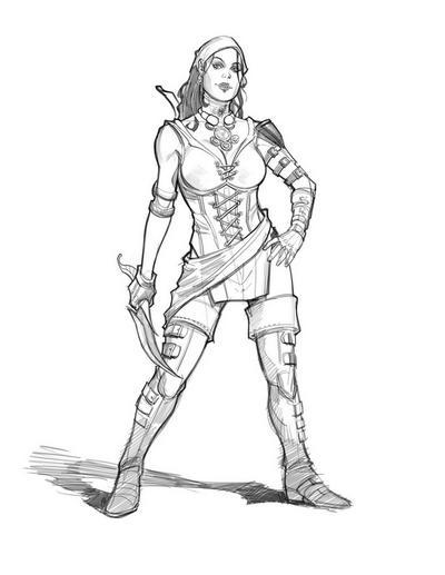 Sketch Dragon Age: The Silent - Isabela