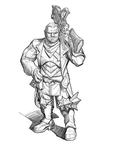 Sketch Dragon Age: The Silent - Varric
